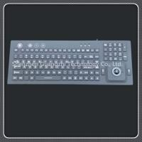 China Backlit Silicone Rubber Keypad With High Accuracy Trackball Mouse Flexible on sale