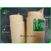 China 80gr - 140gr Recycle Pulp Good Toughness Kraft Paper Sheet For Shopping Bags on sale