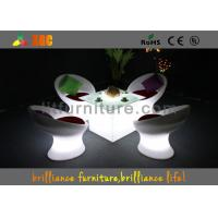 China Wireless Remote Control LED Coffee Tables / bar table with glass top wholesale