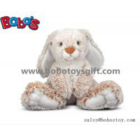China 25cm Baby Plush Sitting Rabbit Animal Toy with Long Ears and Big Feet wholesale