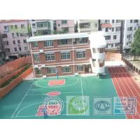 Shock Absorption Rubber Tennis Court Surface With Pu Coating Material