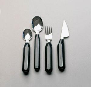 Plastic handle 16pcs flatware set with double blister