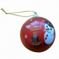 China Christmas Ball Ornament, Christmas Gifts, Made of EPS Material, Full Color Printing wholesale