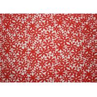 China Red 47 Inches DTM Flower Embroidered Lace Fabric With African Cord Lace By Azo Free wholesale