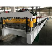 China 0.4 - 0.6mm Steel Thickness Tile Roll Forming Machine One Complete Chain With Decoiler wholesale