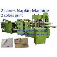 China 2 Lanes Two Colors Printing Paper Napkin Making Machine on sale