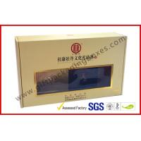 China Khaki Window Strong Paper Board Packaging Gift Boxes Elegant Design wholesale