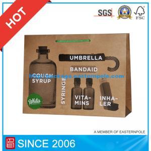 China Silkscreen Kraft Paper Bag, Shopping Gift Bag wholesale
