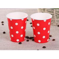 China Takeaway Single Wall Paper Cups , Red Personalized Wedding Paper Cups wholesale