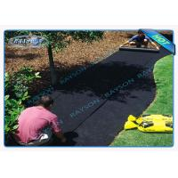 China 40gsm Black Non Woven Landscape Fabric for Garden Cover , 1.5 % UV - Resistance wholesale