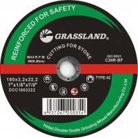 """China GRASSLAND 7"""" Metal Stainless Steel grinding Disc 180*3.2*22.2 wholesale"""
