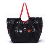 China Large capacity shoulder bag shopping bag folded Oxford bag wholesale
