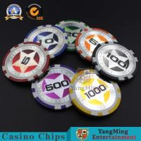 China Gambling European Abs Casino Poker Chips 3-3.3MM Thinkness For Gift Entertainment Game wholesale