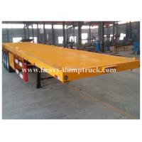 China Four Axles Low Bed Semi Trailer For Transport Containers , 40 Tons Loading Capacity wholesale