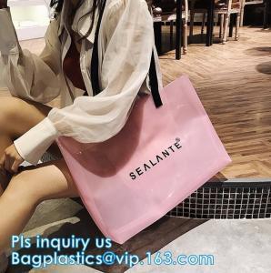China laser PVC beach shoulder Hand bags fashion beach bags, waterproof outdoor beach bean hand bag, PVC waterproof beach bag wholesale