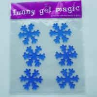 China Christmas 3D gel stickers, eco-friendly and non-toxic, no adhesive, can apply to window wholesale