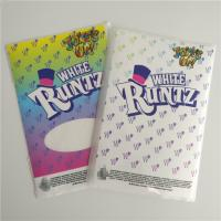 China Customized Labels Printable Shrink Wrap  White Runtz Mylar Paper Stickers Gravure Printing wholesale