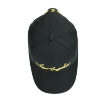 China New Design Black 5panel Structured custom flat embroidery logo sports hats caps wholesale