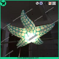 China Indoor Event Hanging Decoration Inflatable Character/Inflatable Starfish With LED Light wholesale