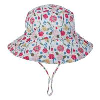 China Baby Toddler Plaid Reversible Sun Protection Animal Hat Bucket caps wholesale
