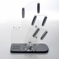 China Transparent acrylic store displays / acrylic kitchen knife holder wholesale