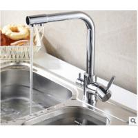 Buy cheap 3 In 1 Brass Gooseneck Kitchen Faucet Connect Pure Water Hot Cold Water In Kitchen from wholesalers