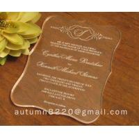 China wasteful wedding invitation card wholesale