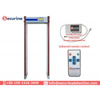China Entrance Door Frame Metal Detector Airport Security Scanner With 760mm Passenger Channal Size wholesale