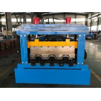 China Manual Decoiler Floor Metal Deck Roll Forming Machine 85mm Shaft 30 Stations wholesale