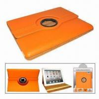 China Leather Case for iPad, with Function of Stand amd Rotating Cover wholesale