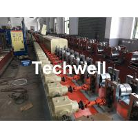 China Aluminum , Carbon Steel Pu Foam Rolling Shutter Door Making Machine With Servo Tracking Flying-Saw Cutting wholesale