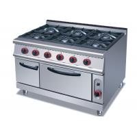 China Commercial Cooking Lines , Free Standing 4 / 6 Burners Gas Range With Oven wholesale