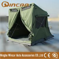 China Quick open tent with awning pitch 280G canvas 30 seconds easy set up waterproof ground tent 4 X 4 breathable car tent wholesale