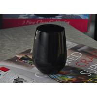 China Blown rotable black antique candle holders glass Machine Black Green wholesale
