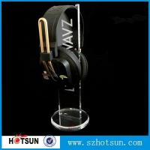 China 2016 Hot sale acrylic headphone/earphone/ headset display stand/rack wholesale