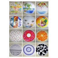 China 2016 new design Fashion custom printed outdoor mat round beach towels wholesale
