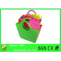 China Small Beautiful beach bag Silicon Beach Bag with Handle , Jelly Tote Handbags wholesale