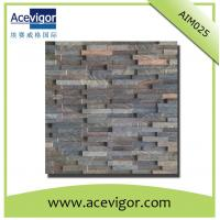 China Vintage style wood wall mosaic panel for wall decorative tiles wholesale