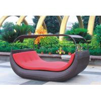 Quality Weatherproof Garden Outdoor Rattan Furniture Coffee Rattan Sunbeds With Cover for sale