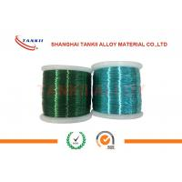 China Colored Enamelled Copper Wire , Super Enamel Coated Copper Wire For Precision Resistor wholesale