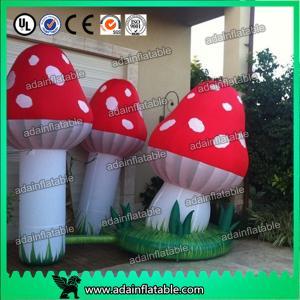 China Air Blown Inflatable Orange Lighting Event Inflatable Mushroom wholesale