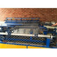 China Single Wire Auto Chain Link Wire Mesh Fence Machine With Wire Thickness 2-4mm wholesale