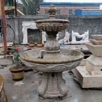 China Marble Antique Fountain Natural Stone Carving For Garden Decoration wholesale