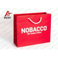 China Bright Red Color Personalised Paper Shopping Bags For Business Eco - Friendly wholesale