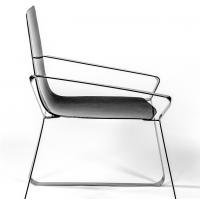 China Luxury Carbon fiber arm chair for Villa Manor yacht five star hotel living room and private club 1805 wholesale