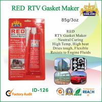 China Silicone Air Proof RED RTV Gasket Maker Permanently Flexible Fast Curing wholesale