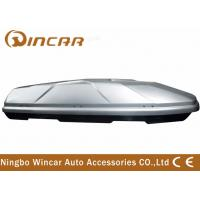 Quality Dual Open 445L Sliver off road Car Roof Boxes in ABS Material , 189*89*36cm for sale