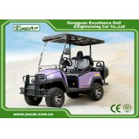 China Purple Lifted Electric Hunting Buggy For Club Course With Onboard Charger on sale