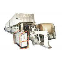 China 380V Corrugated Paper Making Machine High Output Three Press For Making Paper Roll wholesale