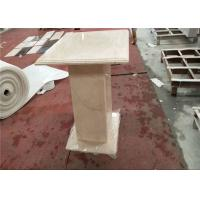 China Onyx Coffee Table Square Marble Table Top Sunny Beige Color Honed Finishing wholesale